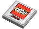 Part No: 3068bpb0301  Name: Tile 2 x 2 with Groove with Lego Logo and Red 'Kyoto' Pattern (Sticker) - Set 8120