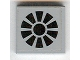 Part No: 3068bpb0401  Name: Tile 2 x 2 with Groove with Black Fan Pattern (Sticker) - Set 7709