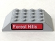 Part No: 32083pb001  Name: Slope 45 6 x 4 Double with 'Forest Hills' Pattern (Sticker) - Set 4855