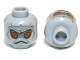 Part No: 3626cpb0373  Name: Minifig, Head Alien with SW Neimoidian Gray Facial Lines Pattern - Stud Recessed