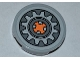 Part No: 4150pb104  Name: Tile, Round 2 x 2 with Cog Wheel Pattern (Sticker) - Set 9444