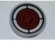Part No: 4150pb110  Name: Tile, Round 2 x 2 with Red Radar Screen Pattern (Sticker) - Set 5887