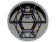 Part No: 4150pb169  Name: Tile, Round 2 x 2 with SW Millennium Falcon Turret Pattern (Sticker) - Set 7778