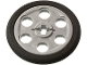 Part No: 4185c01  Name: Technic Wedge Belt Wheel (Pulley), with Black Technic Wedge Belt Wheel Tire (4185 / 70162)