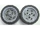Lot ID: 61817185  Part No: 41896c04  Name: Wheel 43.2mm D. x 26mm Technic Racing Small, 3 Pin Holes with Black Tire 56 x 28 ZR Street (41896 / 41897)