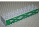 Part No: 4199pb01  Name: Duplo, Brick 2 x 8 with Green Girders Pattern