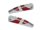 Part No: 42022pb25  Name: Slope, Curved 6 x 1 with Dark Red Stripes and SW Republic Pattern on Both Sides Pattern (Stickers) - Set 75012