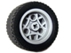 Part No: 44292c02  Name: Wheel 30.4mm D. x 20mm with 3 Pin Holes with Black Tire 43.2 x 22 ZR (44292 / 44309)