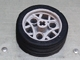 Part No: 44293c01  Name: Wheel 36.8 x 14 ZR with Axle Hole, 3 Pin Holes, and Black Rubber Tire Glued On