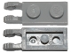 Part No: 44302a  Name: Hinge Plate 1 x 2 Locking with 2 Fingers on End with Bottom Groove