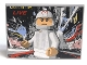Part No: 4515pb036  Name: Slope 10 6 x 8 with White Minifigure Racer and 'LIVE' Pattern (Sticker) - Set 8161