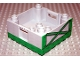 Part No: 47423pb04  Name: Duplo Container Box 4 x 4 with Studs on Corners with Green Girders Pattern