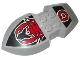 Part No: 51808pb01  Name: Nestle Promo Figure Vladek Shield with Scorpion Pattern (Stickers) - Set 4943