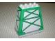 Part No: 54010pb01  Name: Duplo, Brick 3 x 6 x 5 Slope 75 Quadruple with Green Girders Pattern