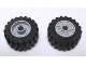 Part No: 55981c02  Name: Wheel 18mm D. x 14mm with Pin Hole, Fake Bolts and Shallow Spokes with Black Tire 30.4 x 14 Offset Tread (55981 / 30391)