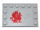 Part No: 6180pb080R  Name: Tile, Modified 4 x 6 with Studs on Edges with Red Gryphon Pattern Model Right Side (Sticker) - Set 75081