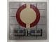 Part No: 6881pb04  Name: Tile 6 x 6 with Dark Red SW Semicircles Pattern (Sticker) - Set 8039