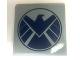 Part No: 6881pb08  Name: Tile 6 x 6 with Avengers Logo Pattern (Sticker) - Set 6869