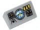 Part No: 85984pb055  Name: Slope 30 1 x 2 x 2/3 with Horizon Screen, 3 Gauges and 3 Yellow Switches Pattern (Sticker) - Set 60046
