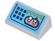 Part No: 85984pb159  Name: Slope 30 1 x 2 x 2/3 with Control Panel with Red and Blue Square Buttons, Yellow Lines, and White Toggles Switches Pattern (Sticker) - Set 70905
