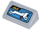 Part No: 85984pb160  Name: Slope 30 1 x 2 x 2/3 with Digital Display with White Batmobile, Red Indicator and Yellow Level Bars Pattern (Sticker) - Set 70905