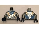 Part No: 973pb2279c01  Name: Torso Nexo Knights Armor with Orange and Gold Circuitry and Emblem with Blue Falcon Pattern / Flat Silver Arms / Dark Blue Hands