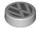 Part No: 98138pb058  Name: Tile, Round 1 x 1 with VW Logo Pattern
