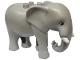 Part No: eleph3c01pb01  Name: Duplo Elephant Adult Stationary Head with Molded Tusks