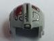 Part No: x164pb05  Name: Minifigure, Headgear Helmet SW Rebel Pilot with Dark Red Markings Pattern