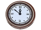 Part No: 14769pb133  Name: Tile, Round 2 x 2 with Bottom Stud Holder with Clock with Roman Numerals Pattern