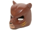 Part No: 18392pb08  Name: Minifigure, Headgear Mask Bear with Black Nose, Medium Flesh Face and Orange Slash Marks Pattern