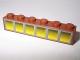 Part No: 3009pb101  Name: Brick 1 x 6 with 6 Yellow Windows Pattern (Sticker) - Set 10144