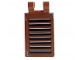 Part No: 30350cpb005  Name: Tile, Modified 2 x 3 with 2 Clips (thick U clips) with Shutter Pattern (Sticker) - Set 6210