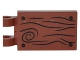Part No: 30350pb031R  Name: Tile, Modified 2 x 3 with 2 Clips with Wood Grain and 4 Nails Pattern Model Right Side (Sticker) - Set 4840