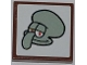 Part No: 3068bpb0509  Name: Tile 2 x 2 with Groove with Squidward Portrait Pattern (Sticker) - Set 3818