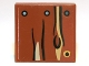 Part No: 3068bpb0652  Name: Tile 2 x 2 with Groove with Wood Grain, Knot and Nails Pattern (Sticker) - Set 9473