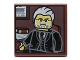 Part No: 3068bpb0699  Name: Tile 2 x 2 with Portrait of Male Minifig with Gray Hair, Beard and Black Suit Pattern