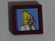 Part No: 3068bpb0955  Name: Tile 2 x 2 with Abe Simpson / Grampa Simpson / Grandpa Simpson Portrait Pattern (Sticker) - Set 71006