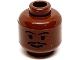 Part No: 3626bpb0214  Name: Minifigure, Head Moustache Thin, Standard Grin, Eyebrows, Small Eyelashes Pattern (SW Lando) - Blocked Open Stud