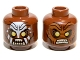 Part No: 3626cpb0718  Name: Minifig, Head Dual Sided LotR Lurtz Scowling / Handprint Pattern - Stud Recessed