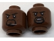 Part No: 3626cpb1787  Name: Minifig, Head Dual Sided Black Eyebrows, Black Goatee, Firm Grin / Tense Pattern - Stud Recessed