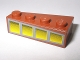 Part No: 41767pb01  Name: Wedge 4 x 2 Right with 4 Yellow Windows Pattern (Sticker) - Set 10144