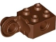 Part No: 48171  Name: Technic, Brick Modified 2 x 2 with Pin Holes and Rotation Joint Ball Half (Vertical Side)