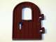 Part No: 64390  Name: Door 1 x 4 x 6 Round Top with Window and Keyhole, Reinforced Edge