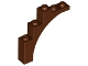Part No: 76768  Name: Brick, Arch 1 x 5 x 4 - Irregular Bow, Reinforced Underside