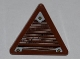 Part No: 892pb023L  Name: Road Sign Clip-on 2 x 2 Triangle with Wood Grain and 3 Nails Pattern Model Left Side (Sticker) - Set 9446