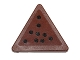 Part No: 892pb025  Name: Road Sign Clip-on 2 x 2 Triangle with Nine Black Dots Pattern (Sticker) - Set 75092