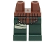 Part No: 970c80pb03  Name: Hips and Dark Green Legs with Reddish Brown Leather Armor and Tan Wrapping on Right Leg Pattern