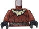 Part No: 973pb0304c01  Name: Torso Batman Ripped Neck with Straw and Rope Belt Pattern / Reddish Brown Arms / Black Hands