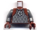 Part No: 973pb0353c01  Name: Torso Castle Knights Kingdom II with Amulet and Vest Pattern / Dark Bluish Gray Arms / Reddish Brown Hands